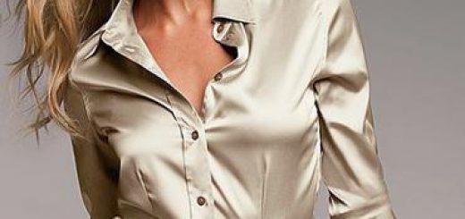 Saten bluz ile şık olmak